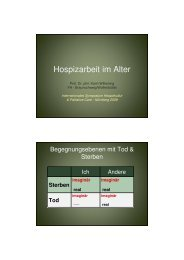 Hospizarbeit im Alter - Prof. Dr. phil., Dipl. Psych ... - End-Of-Life-Care