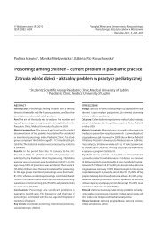 Poisonings among children - Przegląd Medyczny Uniwersytetu ...