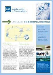 Case Study: Fred Bergman Healthcare - The Australian Institute for ...