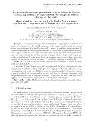 Estimation de mélanges généralisés dans les arbres de Markov ...
