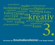 Kreativdienstleister - Kreativregion Stuttgart
