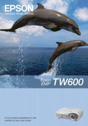 Epson EMP-TW600 Brochure - Wex Photographic