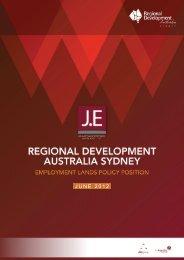 Employment Lands Policy Position - RDA Sydney