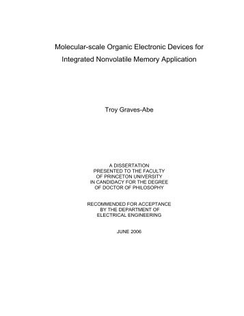 Molecular-scale Organic Electronic Devices for Integrated ...