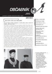 občasník 1/2010 - Janáčkova akademie múzických umění v Brně