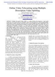 Online Video Telecasting using Multiple Description Video Splitting