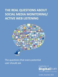 the real questions about social media monitoring/active ... - DigitalMR