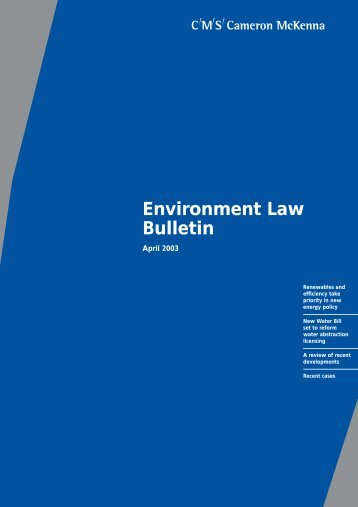 Environment Law Bulletin - Institute of Environmental Management ...