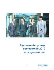 1S 2010 Informe financiero - Investor relations at Amadeus
