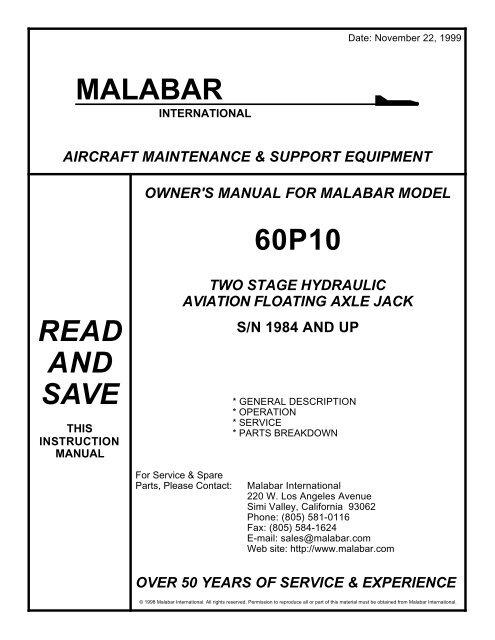 File: 864_Malabar Jack 60P10 pdf - Aeroservicios