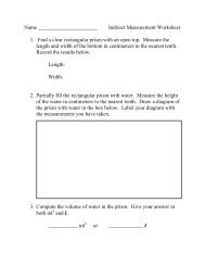 Name Indirect Measurement Worksheet 1. Find a ... - Nichols School