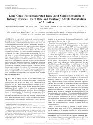 Long-Chain Polyunsaturated Fatty Acid Supplementation in Infancy ...