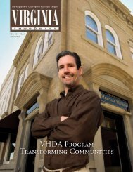 VHDA Program Transforming Communities - the Virginia Municipal ...