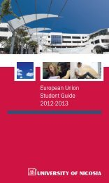 EU Student Guide - University of Nicosia
