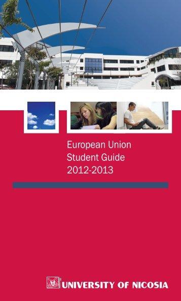 EU Student Guide - University of Nicosia