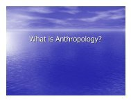 What is Anthropology? - Markville Secondary School