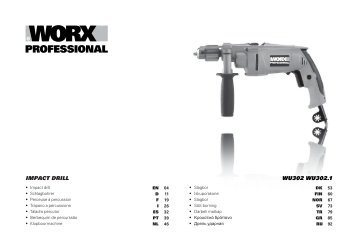 IMPACT DRILL WU302 WU302.1 - Worx Power Tools