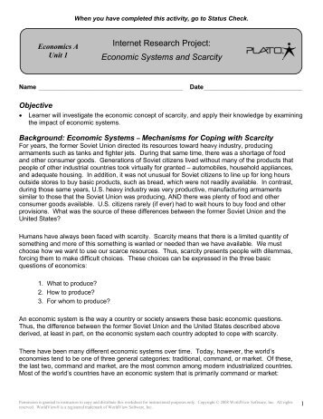 Scarcity Worksheet Photos - pigmu