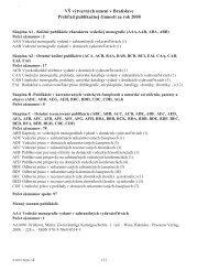 Prehľad publikačnej činnosti za rok 2008 - Vysoká škola výtvarných ...