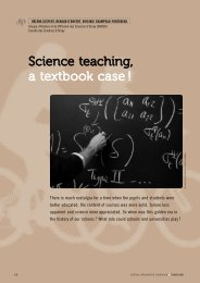 Science teaching, a textbook case ! - Plein Sud