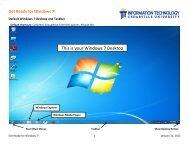 This Is Your Windows 7 Desktop - Cedarville University