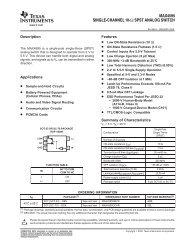 MAX4595 SINGLE CHANNEL 10W SPST ANALOG SWITCH - dieet