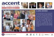 Accent 28: Autumn 2011 - Ashcombe School