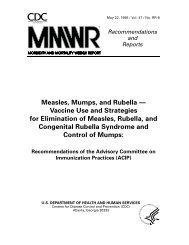 Measles, Mumps, and Rubella - Centers for Disease Control and ...