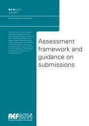 Assessment framework and guidance on submissions - Research ...