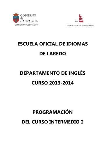 Programación del Nivel Intermedio 2 - Escuela Oficial de Idiomas
