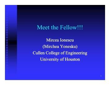 Mircea's Introduction - GK-12 Program at the University of Houston