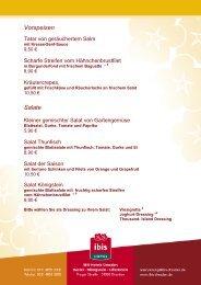 Vorspeisen Salate - Ibis Hotels Dresden