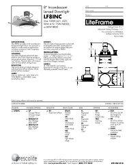 LFR-INC-018 - Prescolite