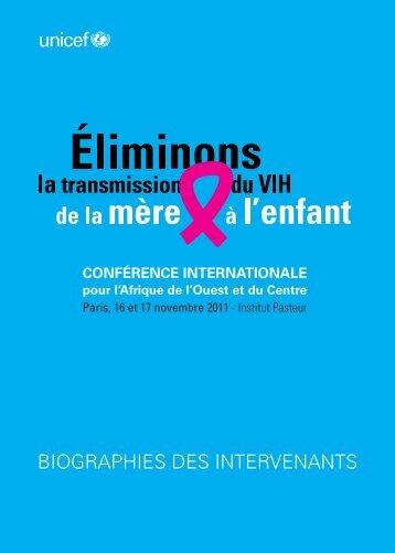 Biographies des intervenants - Unicef