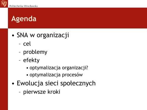 SNA w organizacji
