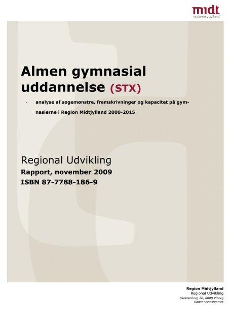 Almen gymnasial uddannelse (STX) - Region Midtjylland
