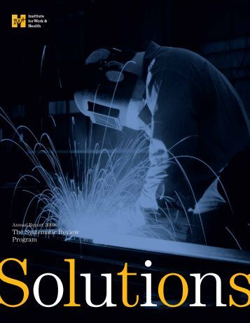 Annual Report 2009 - Institute for Work & Health