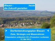 «Der Zukunft auf der Spur» - Gemeinde Blauen