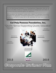 2014 Business Plan and Budgets - Cal Poly Pomona Foundation