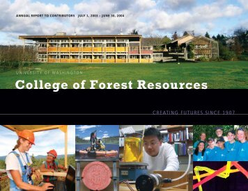43787.CFR Annual text.indd - School of Environmental and Forest ...