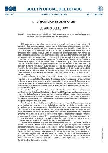 Real Decreto-ley 10/2009 - BOE.es