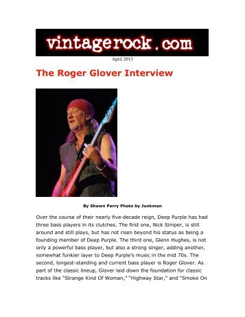 Roger Glover interview - Vintage Rock - Kayos Productions