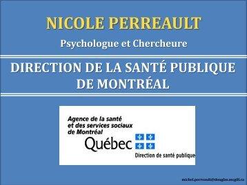 NICOLE PERREAULT - Institut universitaire en santé mentale Douglas