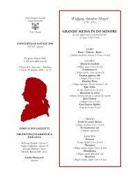 Programma Sala Natale 2006 definitivo - Coro Luigi Gazzotti