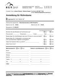 Anmeldung, Lagerraum Nr. 1 - Homegate.ch