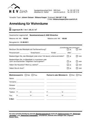 Dossier Mietobjekt Homegatech