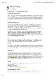 Chairman's Report March 2001 (pdf) - Sonata Sailing