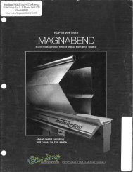 roper whitney magnabend metal bending brake brochure - Sterling ...
