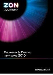 """RELATÃ""""RIO & CONTAS INDIVIDUAIS - Zon"""