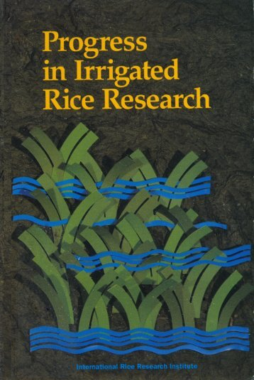 Rice in China - IRRI books - International Rice Research Institute